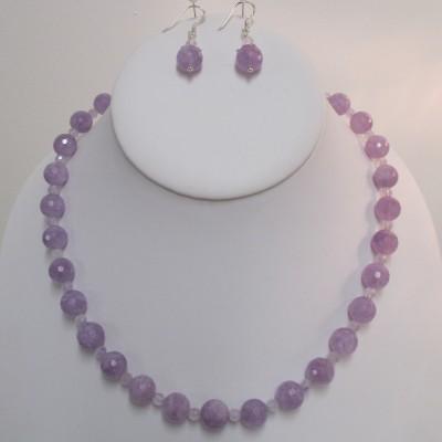 Lavender amethyst set, faceted rounds