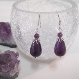 Amethyst drop earrings‏ detail