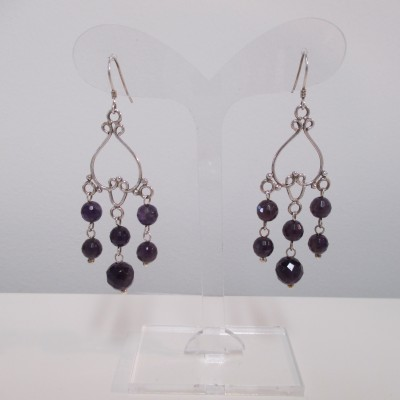 Amethyst Chandelier Earrings‏