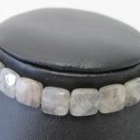 Labradorite and rose gold bracelet close