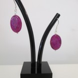 Fuchsia pink jasper earrings