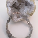 Labradorite and rose gold bracelet‏ set