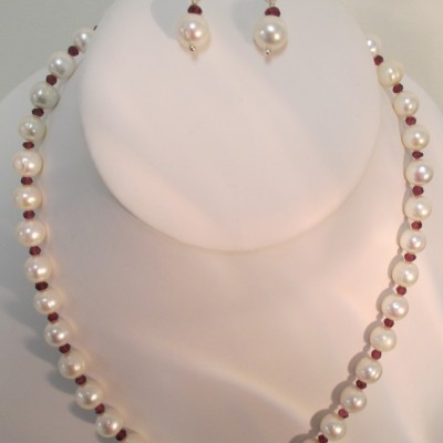 Pearls and garnet set‏