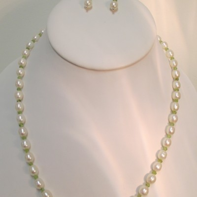 Pearls and Peridot Set