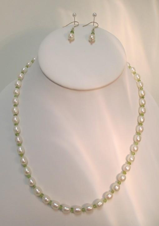 Pearls and Peridot Set