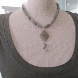 Labradorite necklace with pendant‏ detail