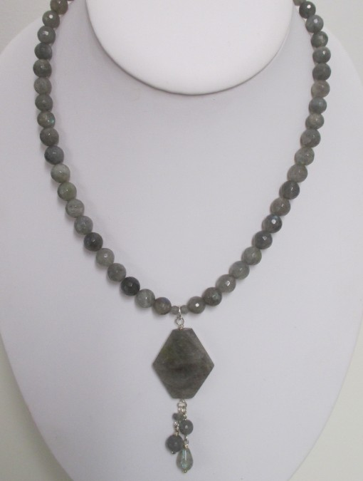 Labradorite necklace with pendant‏