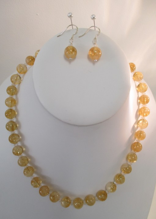 Citrine and moonstone set‏