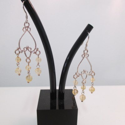 Citrine Chandelier Earrings‏