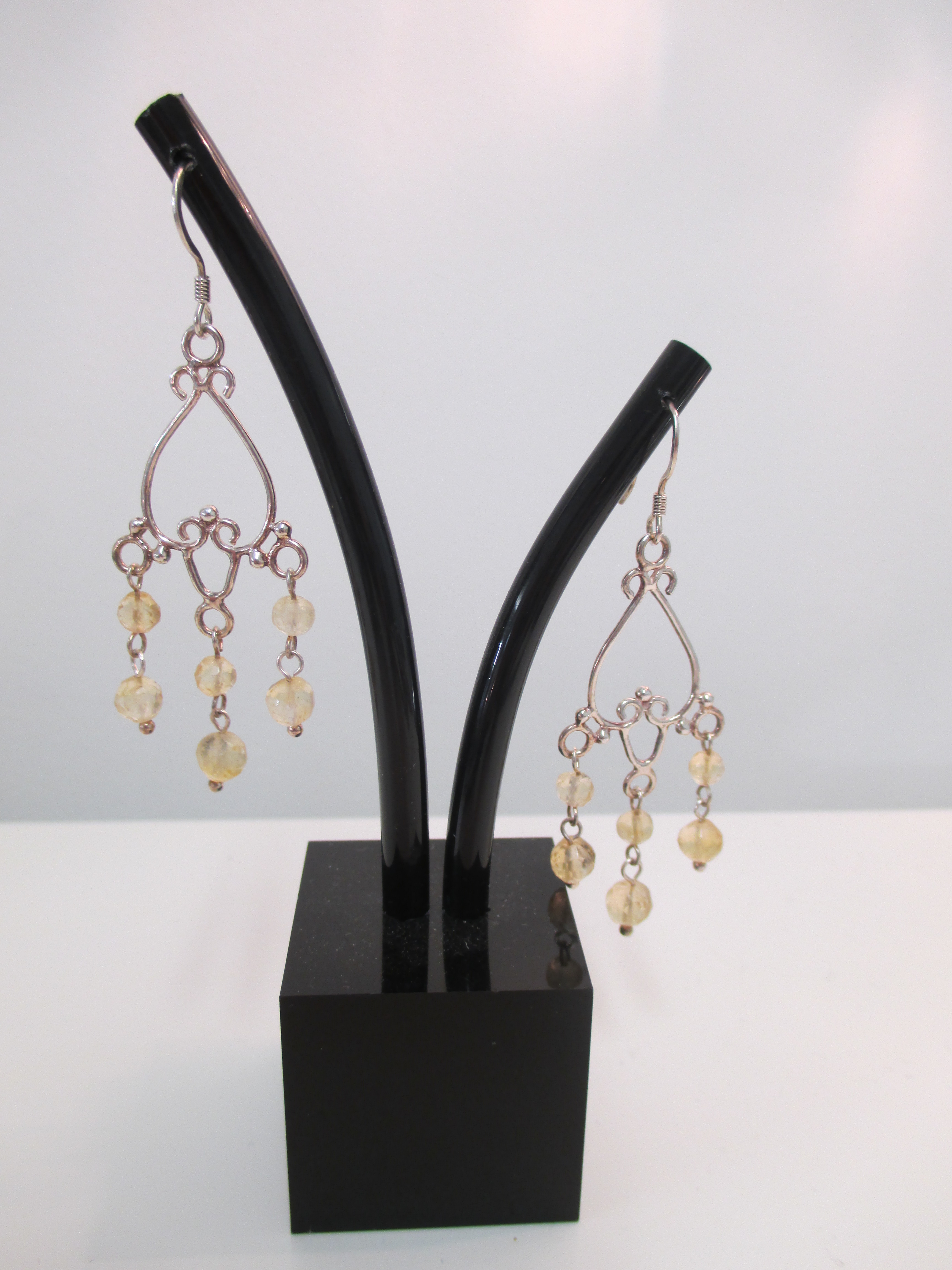 Citrine chandelier earrings made by marianne citrine chandelier earrings mozeypictures Gallery
