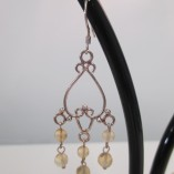 Citrine Chandelier Earrings‏ detail