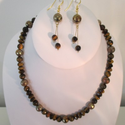 Tigers eye (some gold coated)r set