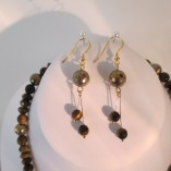 Tigers eye (some gold coated) earrings