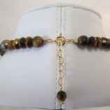 Tigers eye (some gold coated)r necklace clasp