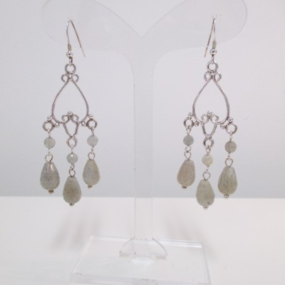 Labradorite chandelier earrings‏