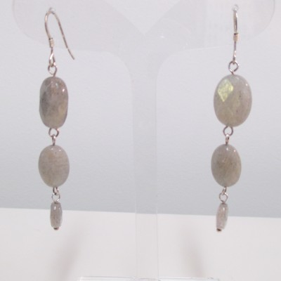 Long labradorite earrings