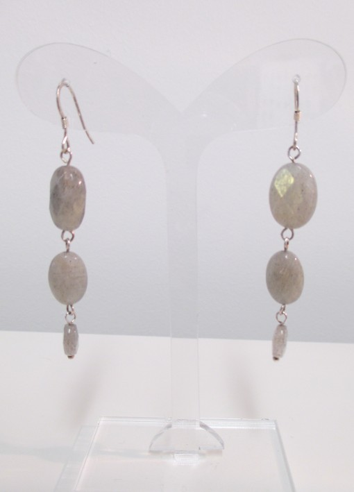 Long labradorite earrings‏