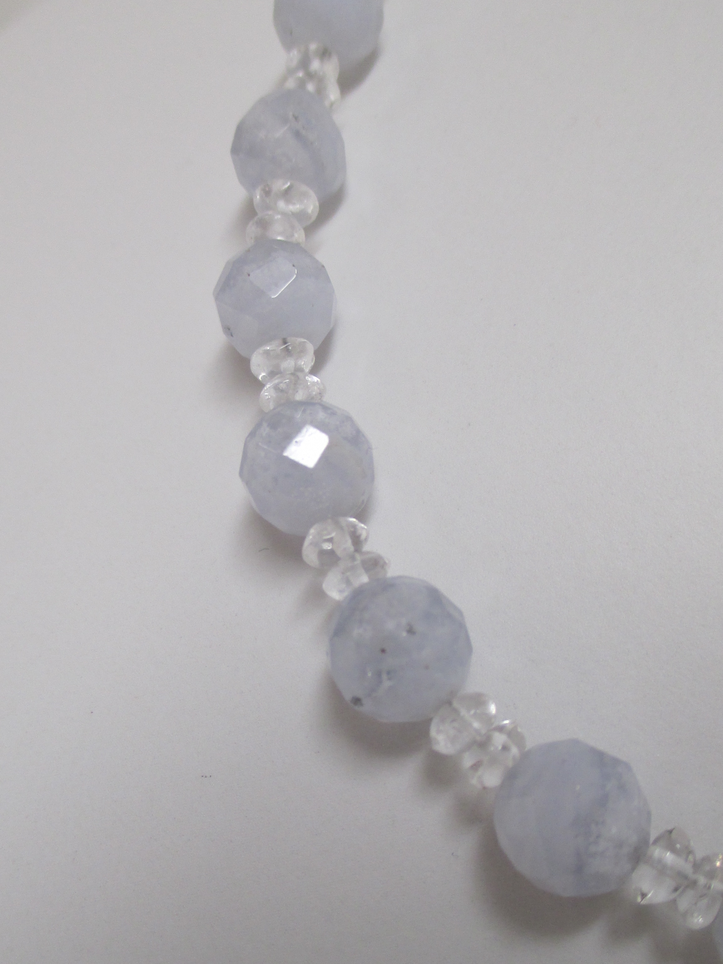 Blue Lace Agate And Quartz Necklace Or Set Made By Marianne