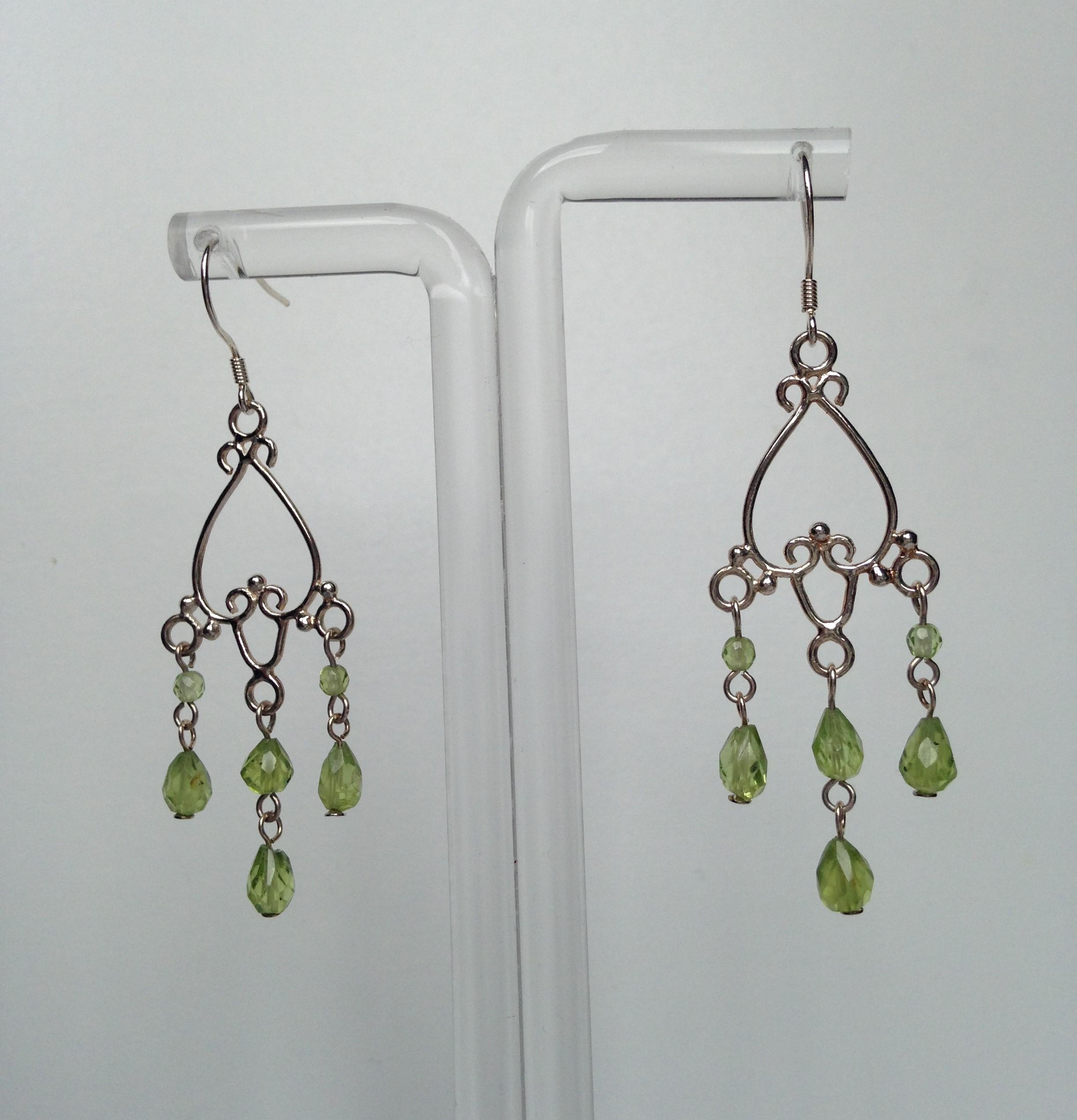 Peridot chandelier earrings made by marianne peridot chandelier earrings mozeypictures Choice Image