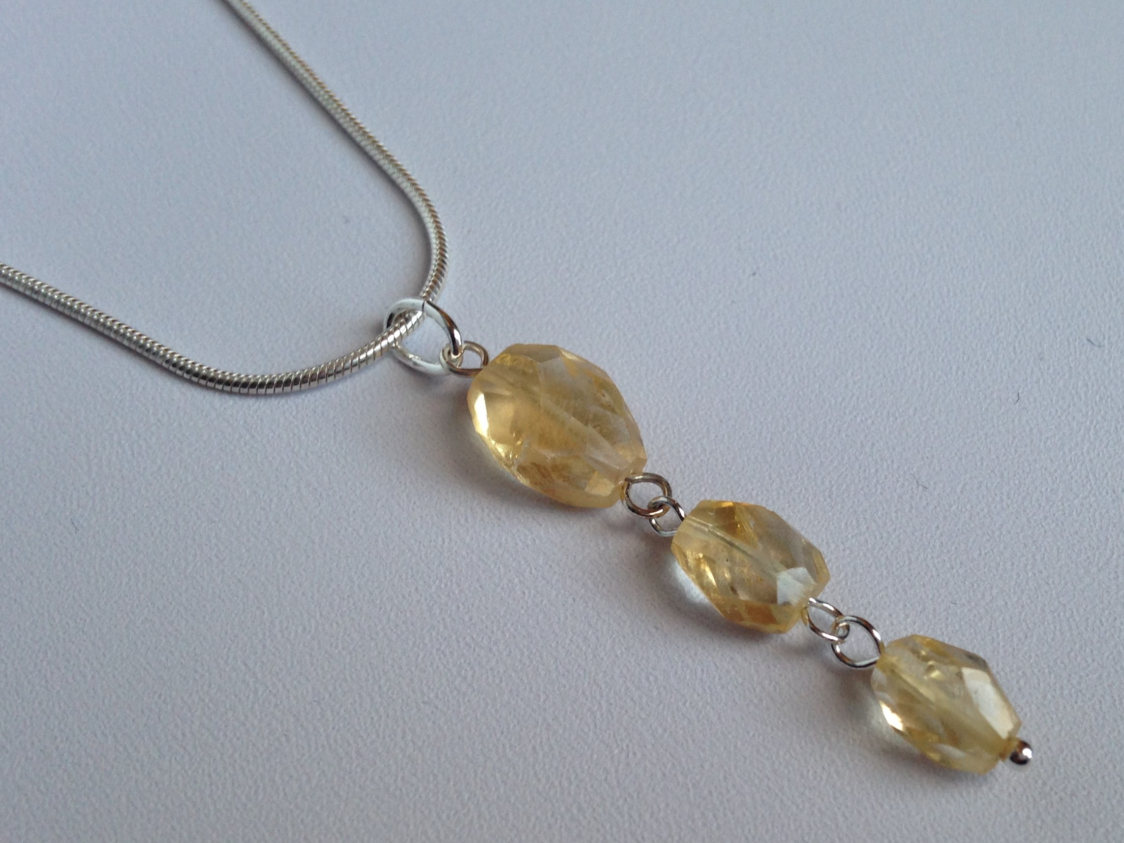 Citrine Bracelet With Extension Chain Made By Marianne